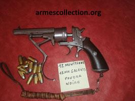 lot de 12 munitions 12 mm GALAND poudre noire.