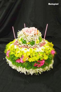 Birthdaycake / Blumentorte (gesteckt)