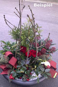 Trauer-Bepflanzung farbig (Schale)