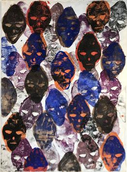 Empreintes Masques polychromes