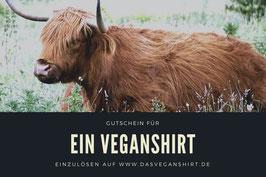 Gutschein für ein Veganshirt