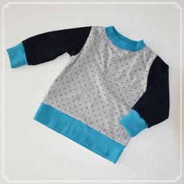 Pullover in Grau/Blau
