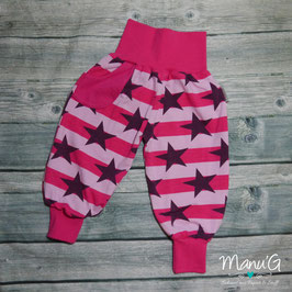 Pumphose gestreifte Sterne rosa/pink