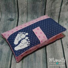 Windeltasche - Jeans Sterne rosa
