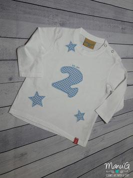 """Geburtstagsshirt """"ich bin 2"""""""