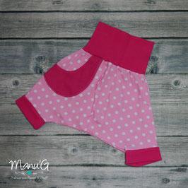 Pumphose kurz rosa Punkte rosa/pink