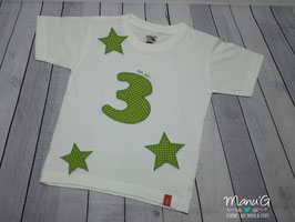 """Geburtstagsshirt """"ich bin 3"""""""