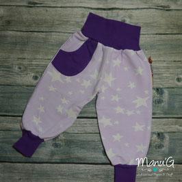 Pumphose Sterne flieder/lila