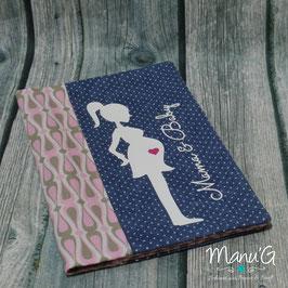 Mutterpasshülle - Mama & Baby rosa/grau