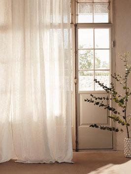 VORHÄNGE/GARDINEN  AIRY CURTIAN  off white LOVELY LINEN 140x280
