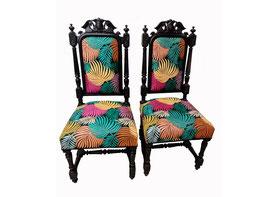 Paire de chaises baroques Jungle