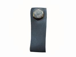 Bouton de meuble gris Cuir