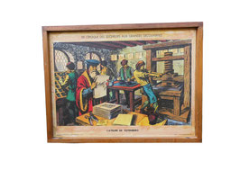 Tableau d'école illustré l'Atelier de Gutenberg