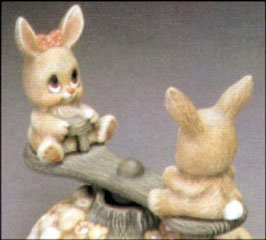 Wipperl und Schnipperl - Zwei Hasen auch für Wippe