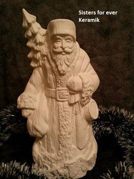 russischer Santa mit Tanne