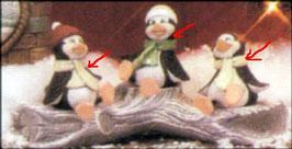 Drei lustige Weihnachtspinguine im Set
