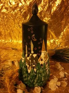 Kerze mit Landschaft auch zum Beleuchten