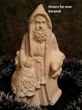 Woodland Santa mit Tanne und Rentier