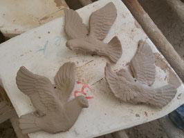 3 Tauben zum hängen oder stecken