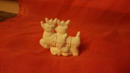 kleine Rentiere für Schlitten mit Santa