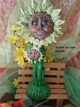 Sonnenblumen Jess und Joy mit Gesicht