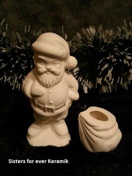 Santa mit Sack 2 tlg.