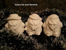 Drei  lustige Weihnachtsmänner