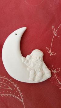 Mondsichel mit sitzendem Santa
