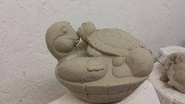 Schildkröte Lilly mit Baby Enzo
