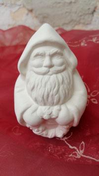 Kleiner runder Weihnachtsmann mit Kranz