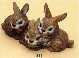 Drei Kuschelnde Haserl Bonny, Clyde und Dave