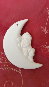 Mondsichel mit liegendem Santa