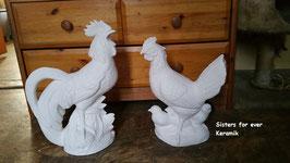 Henne Hannerl mit drei Küken und Hahn Kikerl im Set