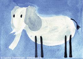 """Postkarte Elefant """"Knut"""""""