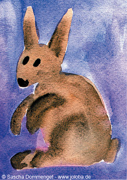 "Postkarte Hase ""Pummel"""
