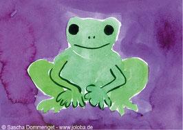 "Postkarte Frosch ""Sebastian"""