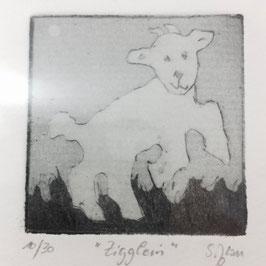 """Radierung """"Zigglein"""" 10/30"""