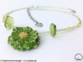 "Kette ""Green Flower"""