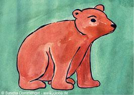 """Postkarte Bär """"Hanjo"""""""