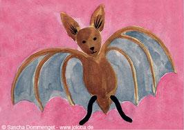 """Postkarte Fledermaus """"Oskar"""""""