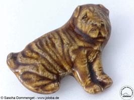 """Brosche """"chinesischer Faltenhund"""""""