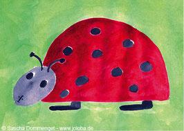 """Postkarte Marienkäfer """"Molli"""""""