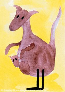 """Postkarte Känguru """"Meli"""""""