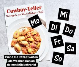 """KÜHLSCHRANK-MAGNETEN """"Wochentage"""""""