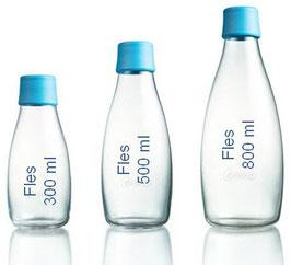 Retap Bottle waterfles (zonder dop), verkrijgbaar in 300ml, 500 ml en 800 ml.
