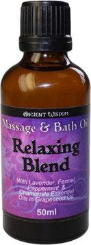 Massageöl Entspannend  50ml Braunglasfläschchen