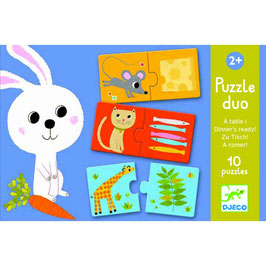 """PUZZLE DUO """"A TABLE"""" DJECO"""