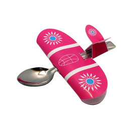 CUILLERE AVION BABYPLANE ROSE