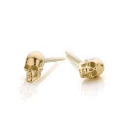 oorbellen mini goud skull