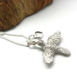 ketting zilver love bird